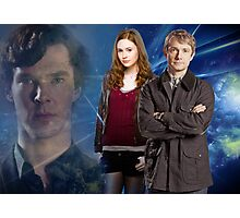 Sherlock,Amy and John Photographic Print