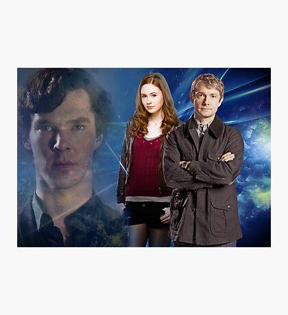 Sherlock,Amy and John Photographic Print