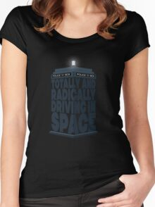 Totally And Radically Driving In Space Women's Fitted Scoop T-Shirt