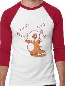 Cubone pokemon dinosaur Men's Baseball ¾ T-Shirt