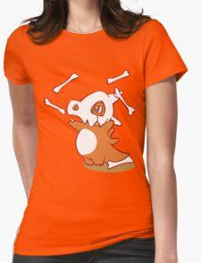 Cubone pokemon dinosaur Womens Fitted T-Shirt