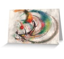 Abstract red ball Greeting Card