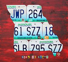 Missouri License Plate Map by designturnpike