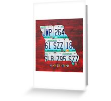Missouri License Plate Map Greeting Card