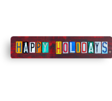 Happy Holidays License Plate Art Canvas Print