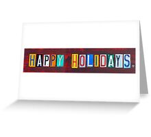 Happy Holidays License Plate Art Greeting Card