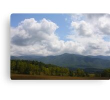 Open Space - Smoky Moutains Canvas Print