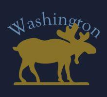 Washington Moose One Piece - Short Sleeve
