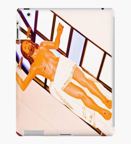 Jesus naked, as my soul. iPad Case/Skin