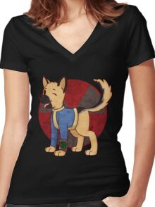 Vault Dog Women's Fitted V-Neck T-Shirt