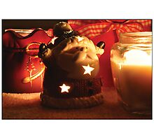 Tealight ho-ho-ho-lder Photographic Print