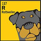 Rottweiler - The Dog Table by Angry Squirrel Studio