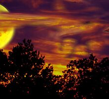 August Sunset Moon by Dennarto