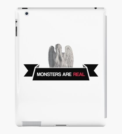 monsters are real (weeping angel version 3) iPad Case/Skin