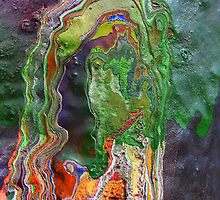 Cadillac Ranch Abstract #3 by reneecettie