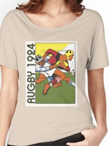Retro rugby 1924 vector art Women's Relaxed Fit T-Shirt