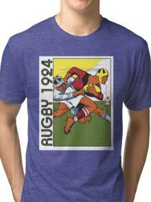 Retro rugby 1924 vector art Tri-blend T-Shirt