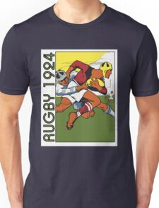 Retro rugby 1924 vector art Unisex T-Shirt