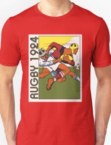Retro rugby 1924 vector art T-Shirt