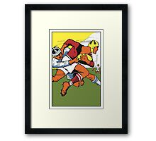 Retro rugby 1924 vector art Framed Print