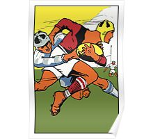 Retro rugby 1924 vector art Poster