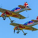 Red Bull Matadors in echelon port by Colin Smedley