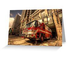 Boston Fire Truck  Greeting Card