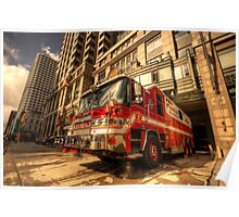 Boston Fire Truck  Poster