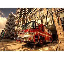Boston Fire Truck  Photographic Print