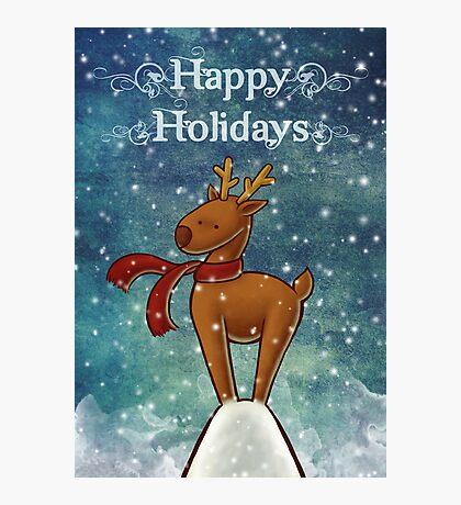 Holiday Reindeer Photographic Print