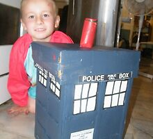 Make your own cardboard Toy Box Tardis  by Kaelem Emblow