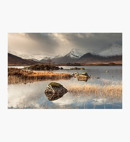 Loch Na h-Achlaise on Rannoch Moor Photographic Print