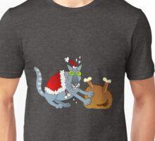 Xmas mischief: who cuts the turkey? Unisex T-Shirt