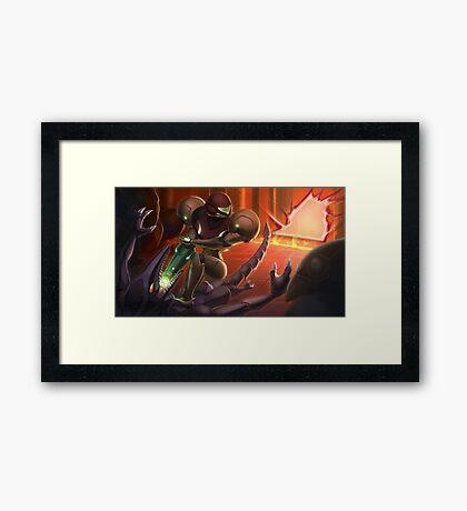Samus vs Ridley Framed Print