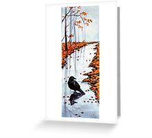 Autumn Raven Greeting Card