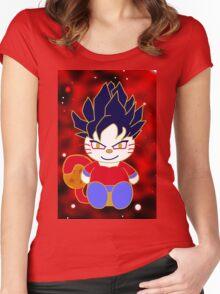 Super Saiyan 4 Kitty Women's Fitted Scoop T-Shirt
