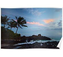 Makena Cove at Sunset, Maui Poster