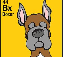 Boxer (cropped) - The Dog Table by Angry Squirrel Studio