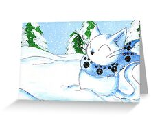 Snowcat Greeting Card