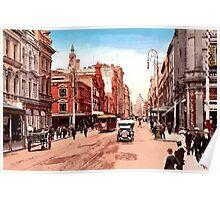 Sydney history, George Street around 1900 Poster
