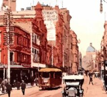 Sydney history, George Street around 1900 Sticker