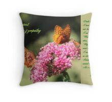 With Deepest Sympathy Throw Pillow