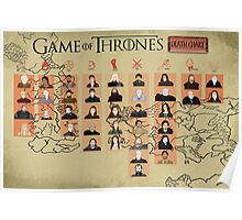 Game of Thrones Death Chart Poster