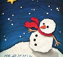 Paper Snowman by Ine Spee