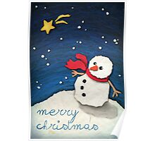 Paper Snowman Poster