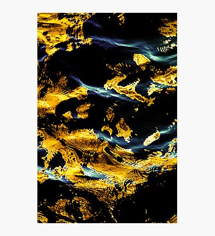 Golden Inking Photographic Print