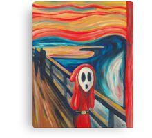 Shy Guy Scream Canvas Print