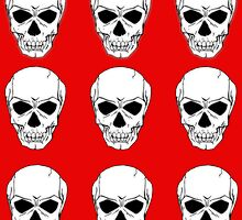 Red Skulls II by LawrenceA