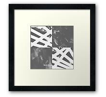 Which Way? - Black and White Framed Print