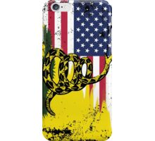 American Gadsden Flag Worn iPhone Case/Skin